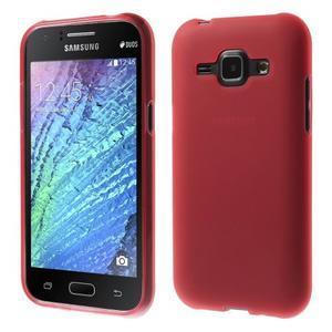 Červený matný kryt na Samsung Galaxy J1 - 1