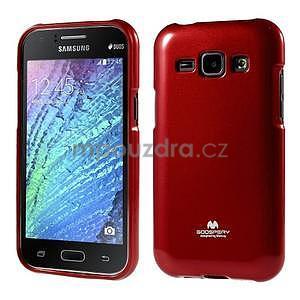 Červený gelový obal na Samsung Galaxy J1 - 1