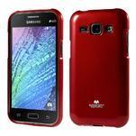 Červený gelový obal na Samsung Galaxy J1 - 1/5