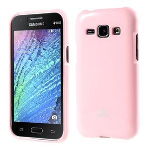 Růžový gelový obal na Samsung Galaxy J1 - 1