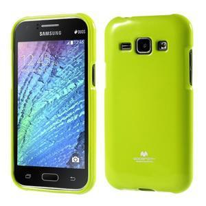 Zelený gelový obal na Samsung Galaxy J1 - 1