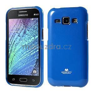 Modrý gelový obal na Samsung Galaxy J1 - 1