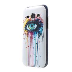 Gelový kryt na Samsung Galaxy J1 - barevné oko - 1