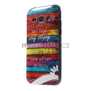 Gelový kryt na Samsung Galaxy J1 - barvy dřeva - 1