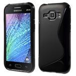 Černý gelový s-line obal Samsung Galaxy J1 - 1/5