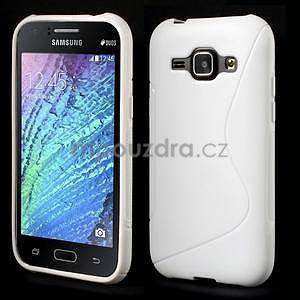 Bílý gelový s-line obal Samsung Galaxy J1 - 1