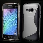 Transparentní gelový s-line obal Samsung Galaxy J1 - 1/3