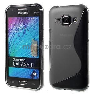 Šedý gelový s-line obal Samsung Galaxy J1 - 1