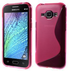 Rose gelový s-line obal Samsung Galaxy J1 - 1