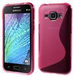 Rose gelový s-line obal Samsung Galaxy J1 - 1/5