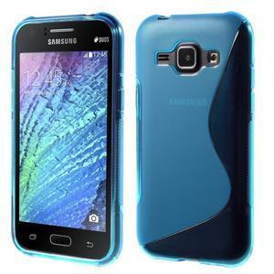 Modrý gelový s-line obal Samsung Galaxy J1 - 1