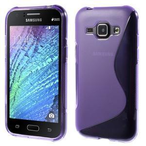 Fialový gelový s-line obal Samsung Galaxy J1 - 1