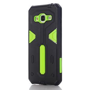 High outdoor odolný kryt na mobil Samsung Galaxy J3 (2016) - zelený - 1