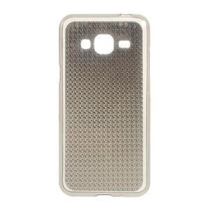 Diamond gelový obal na mobil Samsung Galaxy J3 (2016) - šedý - 1