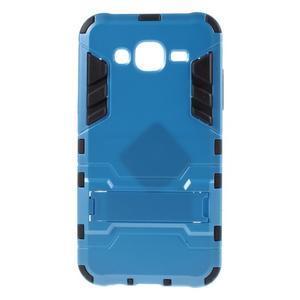 Odolný kryt 2v1 se stojánkem na Samsung Galaxy J5 - modrý - 1