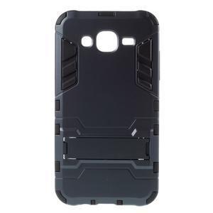 Odolný kryt 2v1 se stojánkem na Samsung Galaxy J5 - tmavěmodrý - 1