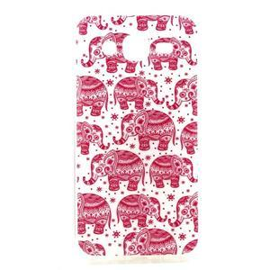 Imda gelový obal na mobil Samsung Galaxy J5 - růžoví sloni - 1