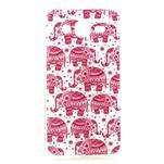 Imda gelový obal na mobil Samsung Galaxy J5 - růžoví sloni - 1/3