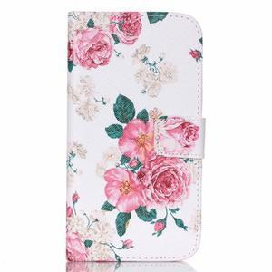 Pictu peněženkové pouzdro na Samsung Galaxy J5 - květiny - 1