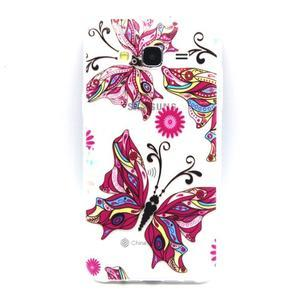 Trasnparent gelový obal na Samsung Galaxy J5 - nádherný motýl - 1