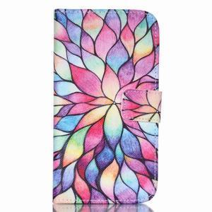 Pictu peněženkové pouzdro na Samsung Galaxy J5 - barevné lístky - 1