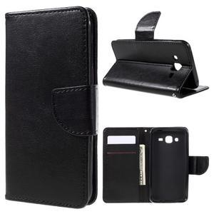 Peněženkové pouzdro na mobil Samsung Galaxy J5 - černé - 1