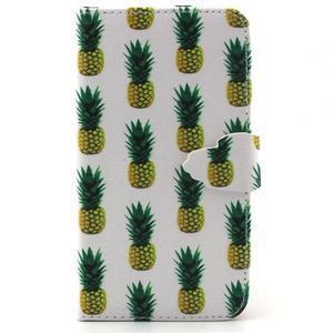 Knížkové pouzdro na mobil Samsung Galaxy J5 - ananasy - 1