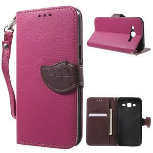 Leaf peněženkové pouzdro na Samsung Galaxy J5 - rose - 1