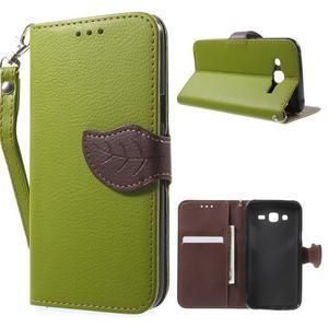 Leaf peněženkové pouzdro na Samsung Galaxy J5 - zelené - 1