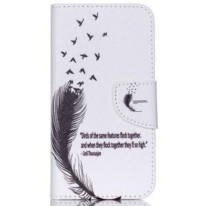 Emotive pouzdro na mobil Samsung Galaxy J5 - ptačí peříčko - 1
