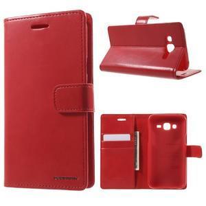 Mercury PU kožené pouzdro na mobil Samsung Galaxy J5 - červené - 1