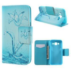 Dairy peněženkové pouzdro na Samsung Galaxy J5 - vodní květ - 1