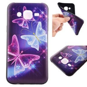 Jelly gelový obal na mobil Samsung Galaxy J5 - kouzelní motýlci - 1