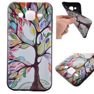 Jelly gelový obal na mobil Samsung Galaxy J5 - malovaný strom - 1