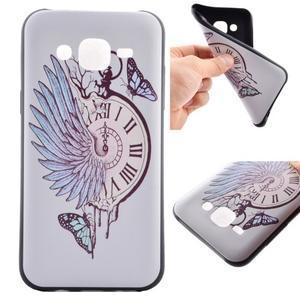 Jelly gelový obal na mobil Samsung Galaxy J5 - antické hodiny - 1
