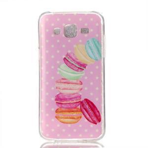 Softy gelový obal na mobil Samsung Galaxy J5 - makrónky - 1