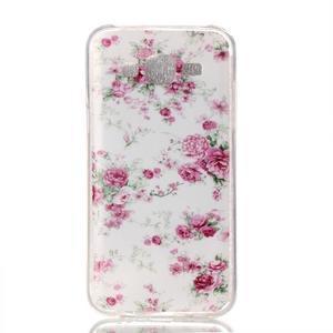 Softy gelový obal na mobil Samsung Galaxy J5 - květiny - 1