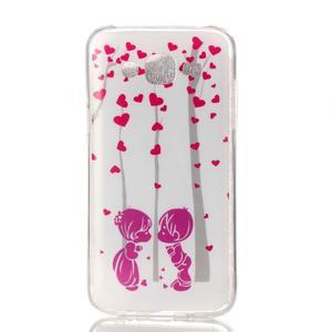 Softy gelový obal na mobil Samsung Galaxy J5 - láska - 1