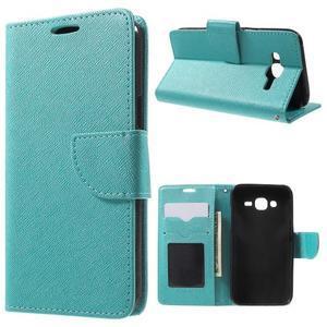 Crossy koženkové pouzdro na Samsung Galaxy J5 - modré - 1