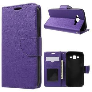 Crossy koženkové pouzdro na Samsung Galaxy J5 - fialové - 1