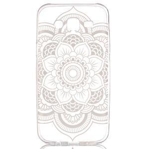 Ultratenký průhledný obal na Samsung Galaxy J5 - mandala II - 1