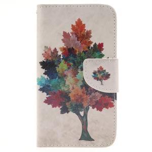 Standy peněženkové pouzdro na Samsung Galaxy J5 - barevný strom - 1