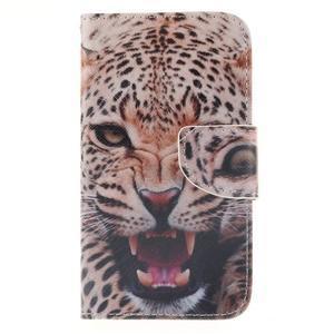 Standy peněženkové pouzdro na Samsung Galaxy J5 - leopard - 1