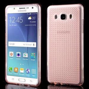 Diamonds gelový obal mobil na Samsung Galaxy J5 (2016) - růžový - 1