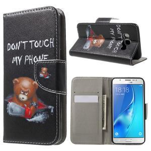 Nice peněženkové pouzdro pro Samsung Galaxy J5 (2016) - zlej méďa - 1