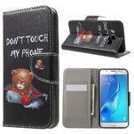 Nice peněženkové pouzdro pro Samsung Galaxy J5 (2016) - zlej méďa - 1/7