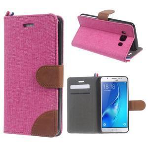 Denim peněženkové pouzdro na Samsung Galaxy J5 (2016) - rose - 1