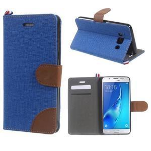 Denim peněženkové pouzdro na Samsung Galaxy J5 (2016) - modré - 1
