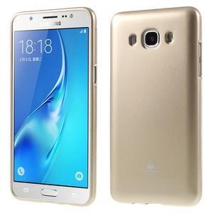 Newsets gelový obal na Samsung Galaxy J5 (2016) - zlatý - 1