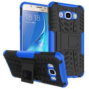 Outdoor odolný obal se stojánkem na Samsung Galaxy J5 (2016) - modrý - 1